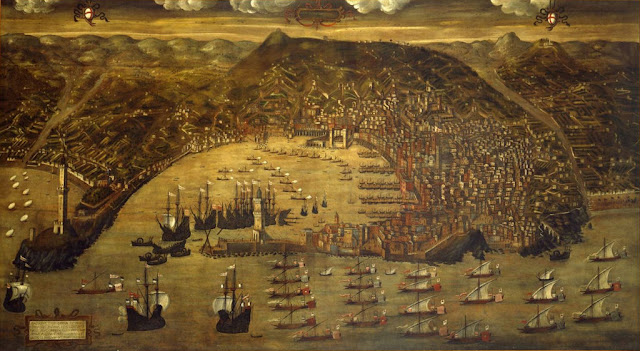 A View of Genoa and Its Fleet by Christoforo de Grassi, 1597 copy