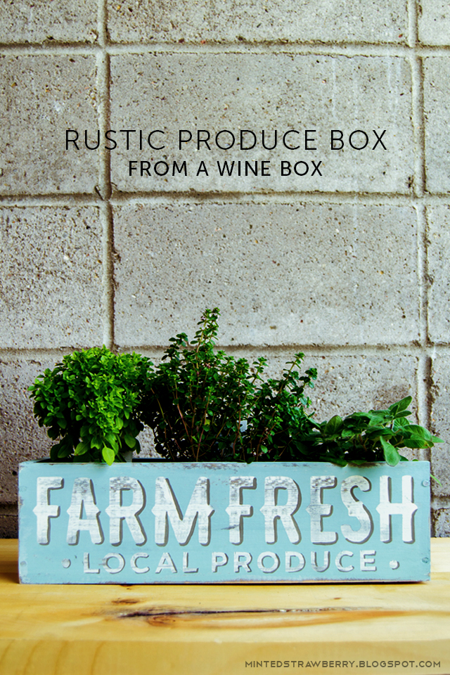 farm fresh box shabby chic decor