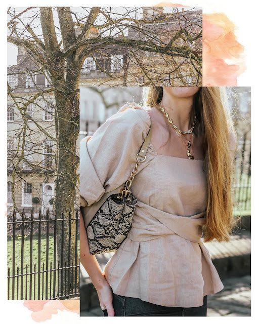 ASOS square neck peplum blouse 2019