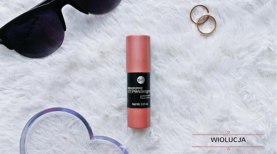 Bell HYPOAllergenic,HypoAllergenic Creamy Rouge Glow Stick ⋅  Hypoalergiczny róż w sztyfcie