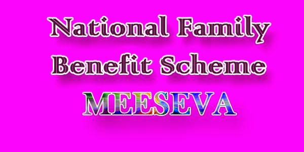 National Family Benefit Scheme apply meeseva
