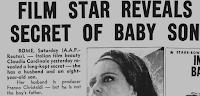 «Film star reveals secret of baby son.»