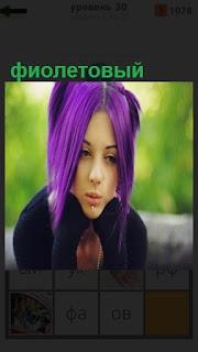 1100 слов девушка покрасила волосы в фиолетовый цвет 30 уровень