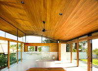 wooden curved roof