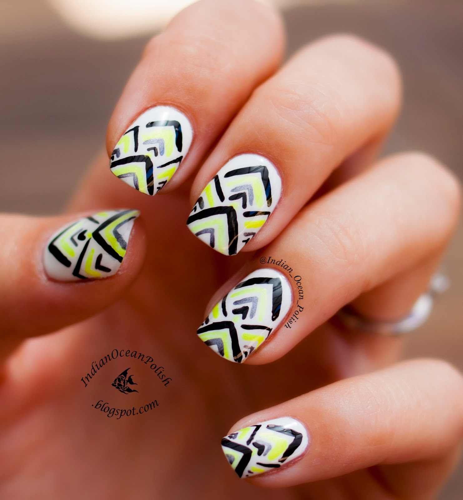 Hand Painted Nail Art Simple