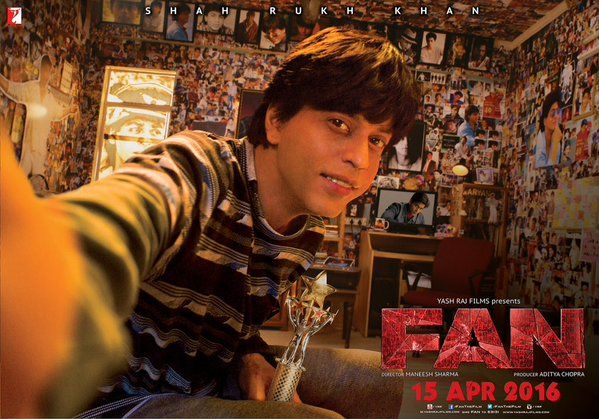 Fan, Movie Poster, starring Shah Rukh Khan