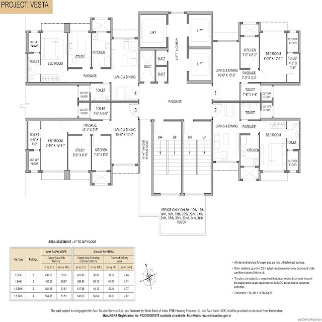 Hiranandani Fortune City Floor Plan