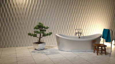 Modern 3d gypsum wall panels installation, 3d gypsum panels for bathroom