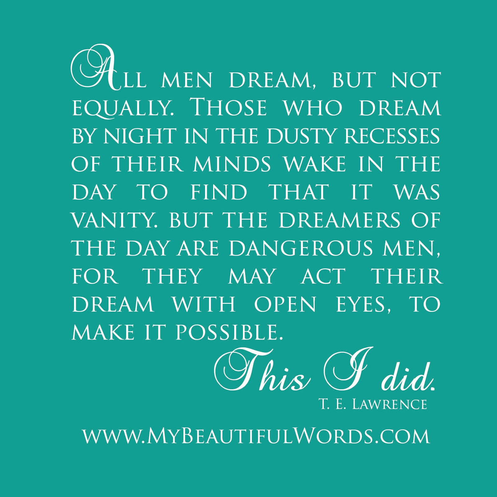 My Beautiful Words Dream With Open Eyes