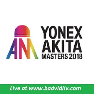 Akita Masters 2018 live streaming
