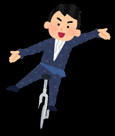 一輪車競技のイラスト(演技・男性)