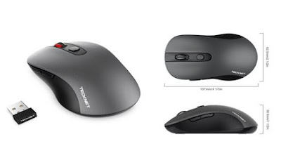 TECKNET PRO 2.4G WIRELESS MOUSE (GREY)
