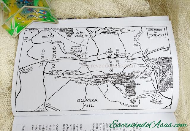 Mapa do Condado - A Sociedade do Anel
