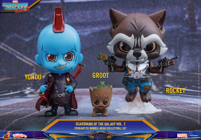 Marvel's Guardians of the Galaxy Vol. 2 Cosbaby Series 2 Mini Figures by Hot Toys - Yondu, Baby Groot & Rocket Raccoon