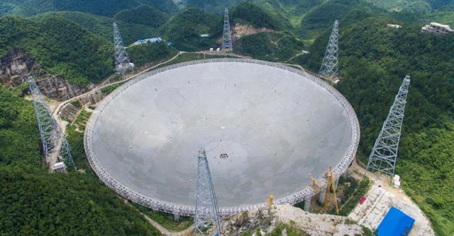Five-hundred-meter Aperture Spherical Telescope (FAST). Credit: Xinhua