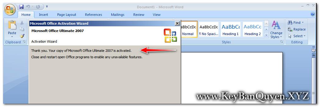 Hướng dẫn cài đặt Microsoft Office 2007 Enterprise bản quyền
