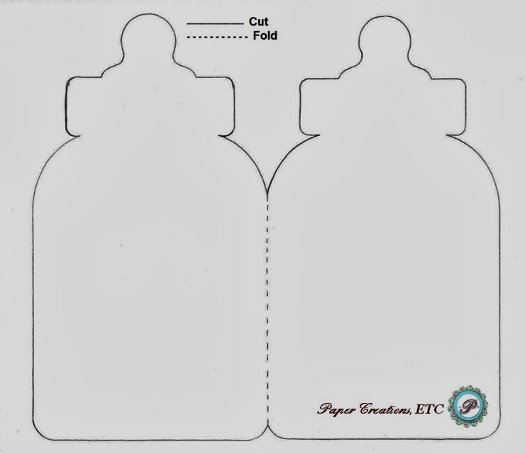 Paper Creations Etc Baby Bottle Card Free Template