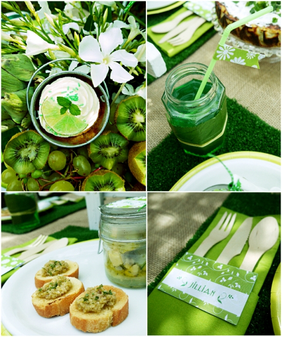 Green Garden Party with FREE Printables - Party Ideas | Party ...