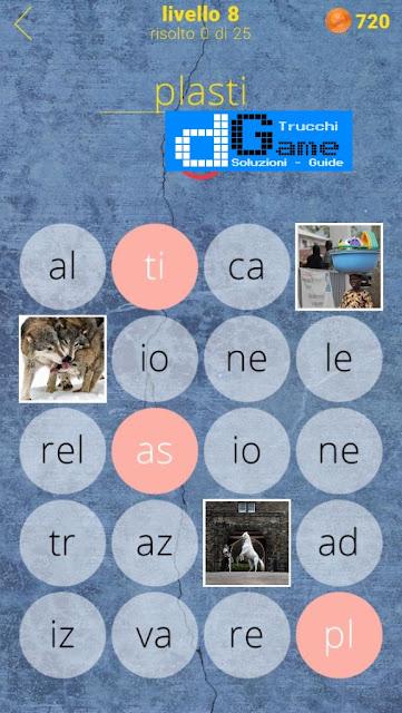 650 Parole soluzione livello 8 (1 - 25)   Parola e foto