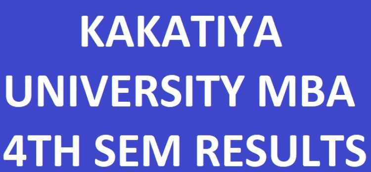 Kakatiya University MBA 4th Sem Results