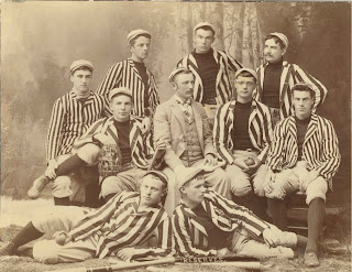 A photograph of the 1890 baseball team.