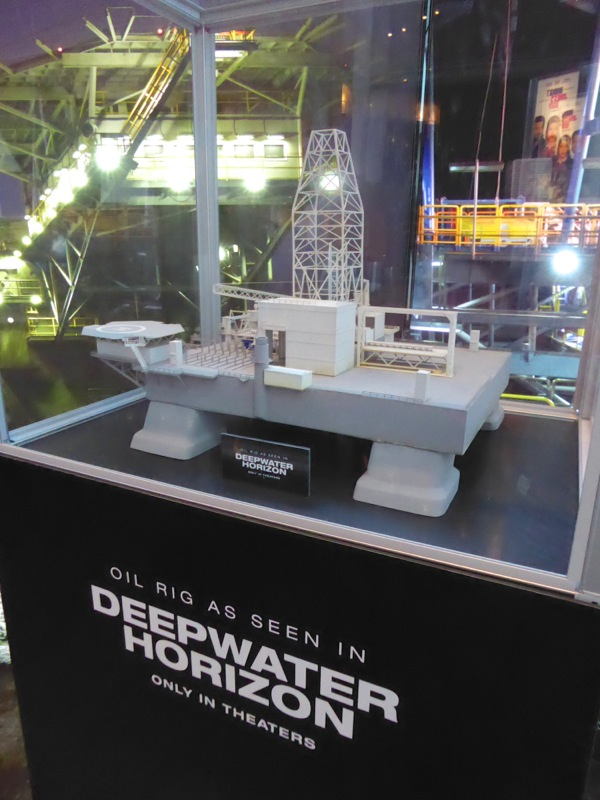 Deepwater Horizon oil rig miniature model