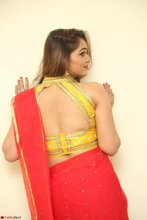 Actress Ashwini in Golden choli Red saree Spicy Pics ~  097.JPG