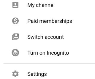 كيفية استخدام وضع التصفح الخفي في YouTube