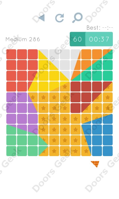 Cheats, Walkthrough for Blocks and Shapes Medium Level 286