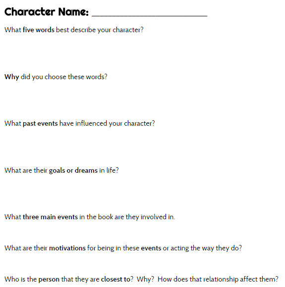 gr the outsiders  what is a character sketch essay