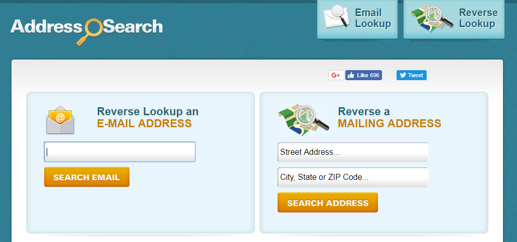 Search hookup profiles by email address