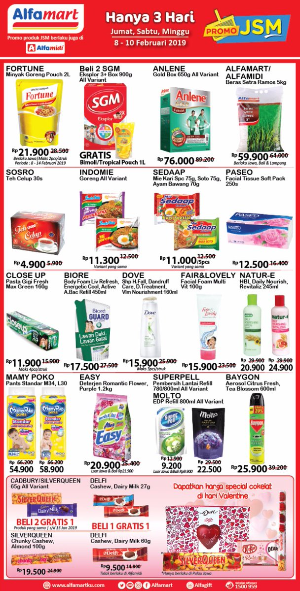 #Alfamart - #Promo #Katalog JSM Periode 08 - 10 Februari 2019