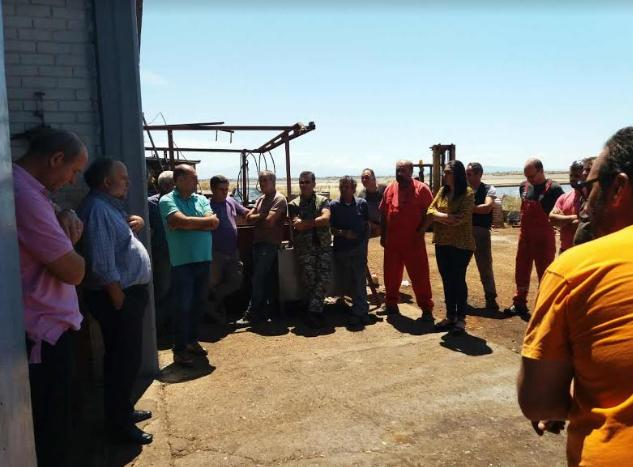 Στις Ελληνικές  Αλυκές  περιόδευσε κλιμάκιο της ΤΕ Αιτωλοακαρνανίας του ΚΚΕ
