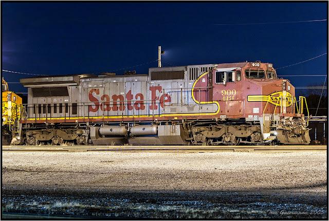 BNSF 900 - Former Santa Fe Warbonnet - UP Dupo Yard