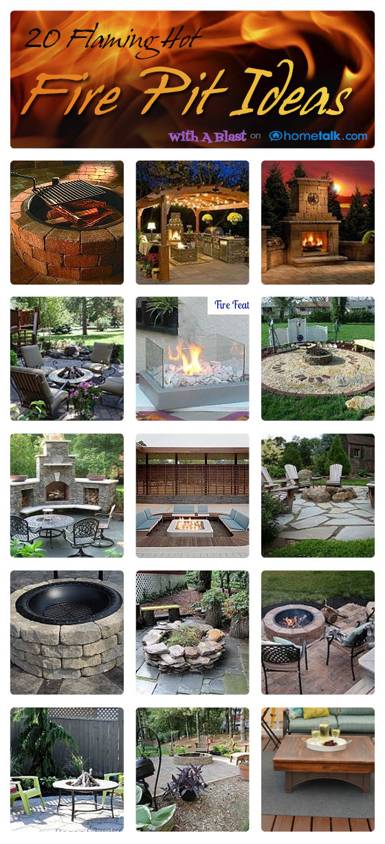 20 DIY Flaming Hot Fire Pit Ideas