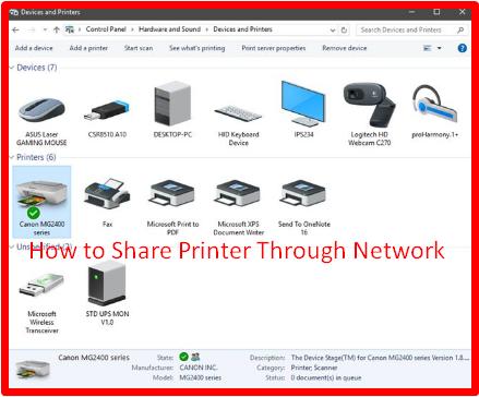 How to Share Printer Through Network