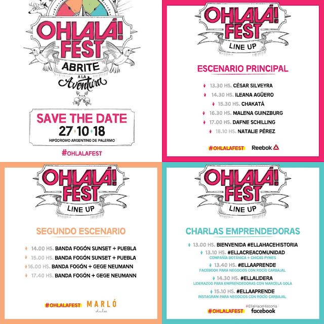 Line up Ohlala Fest