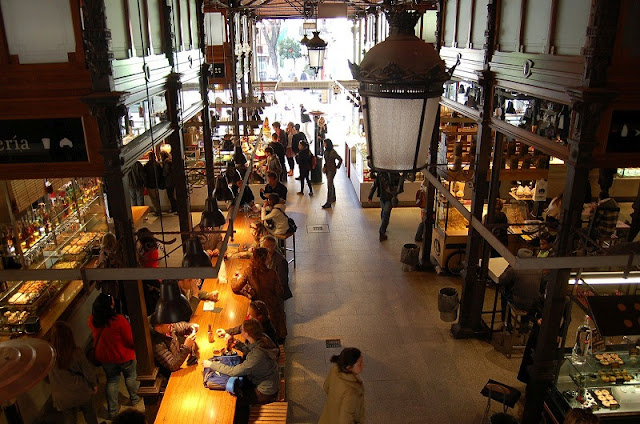 Interior Mercado de San Miguel em Madri