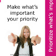 Career Chick Chat: When you prioritize what's important...