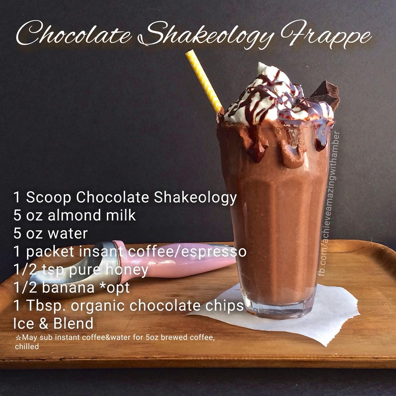 Achieve Amazing with Amber: Thirsty Thursday~ Shakeology Recipes!!