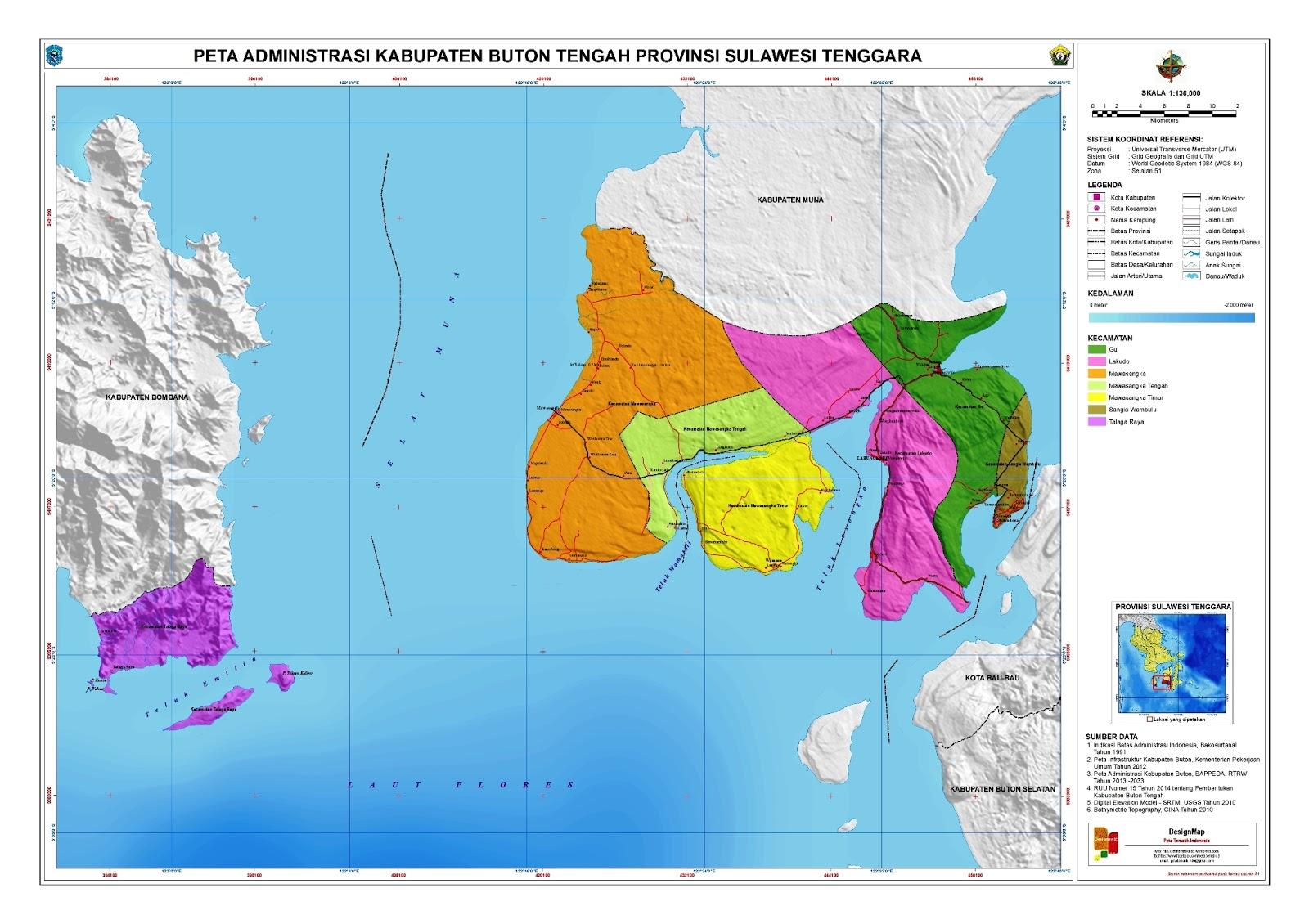 Peta Kabupaten Buton Tengah