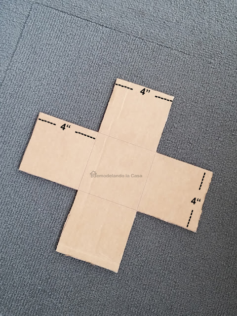 Swiss cross rug template cardboard