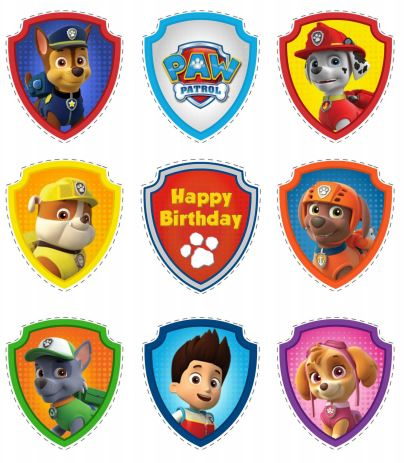 Paw Patrol Free Printable Toppers.