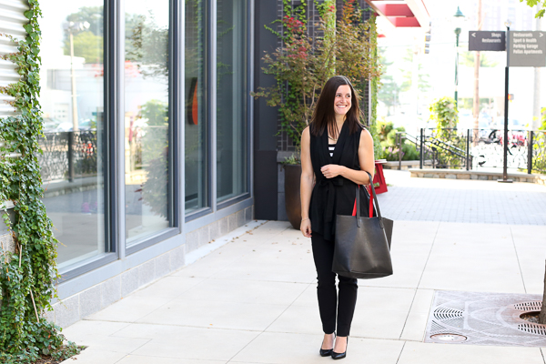 Naturally Me, Black Heels for Fall, Black Dress Pants, All Black Outfit