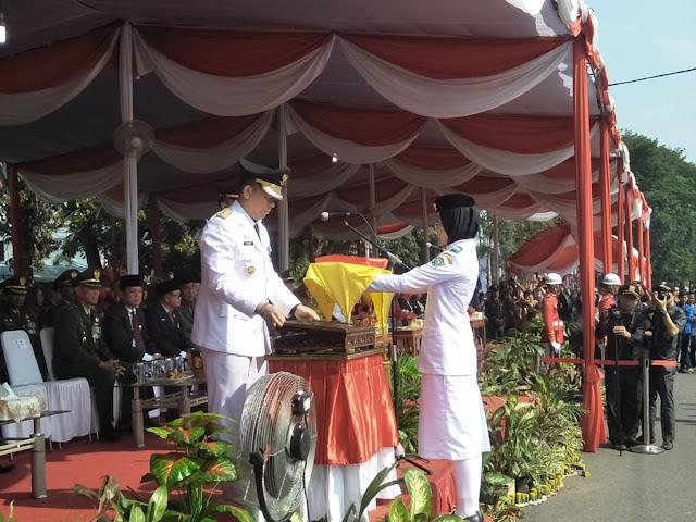 Upacara HUT RI Ke-73, Pimpin Langsung Oleh Pj Bupati Muara Enim