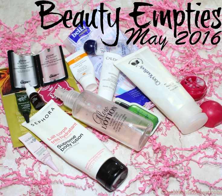 Here are the beauty products I used up in May 2016 and my thoughts on each.