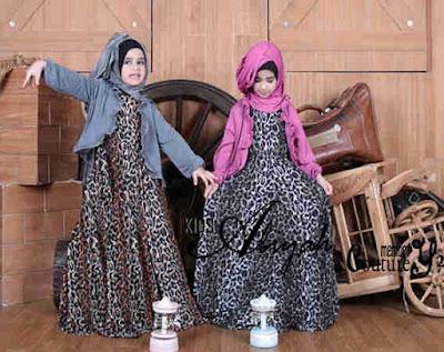 Baju Muslim Gamis Pesta Anak