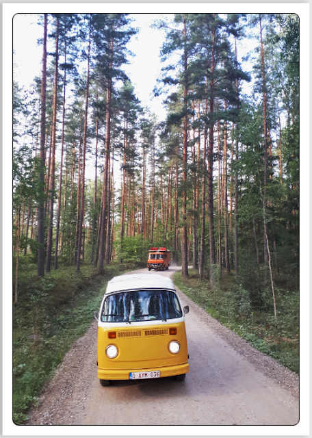 Volkswagen Type 2 Westfalia bus in Latgale, Latvia