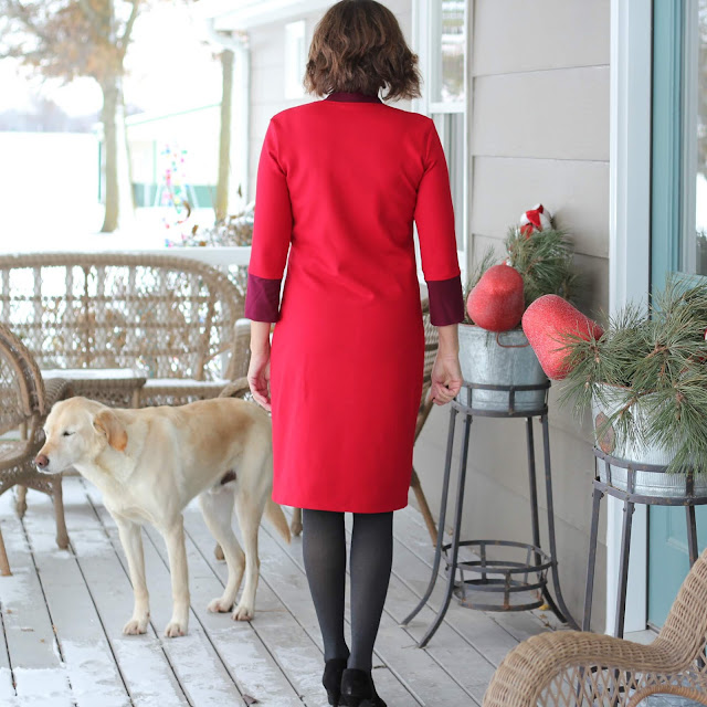 The Little Red Dress Project - McCall's 6886 with modifications using fabric from Style Maker Fabrics - back