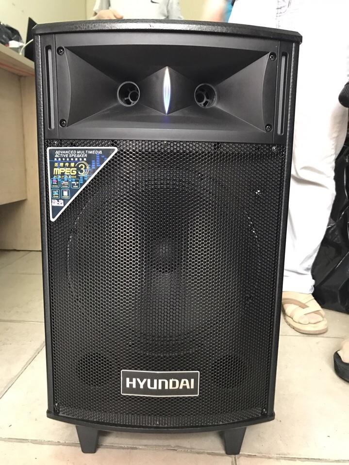 1499k - Loa bluetooth karaoke kẹo kéo Huyndai vỏ gỗ tặng kèm 1 micro không dây hát cực hay giá sỉ và lẻ rẻ nhất